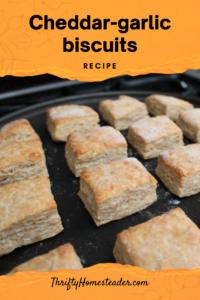 Recipe Cheddar-garlic biscuits