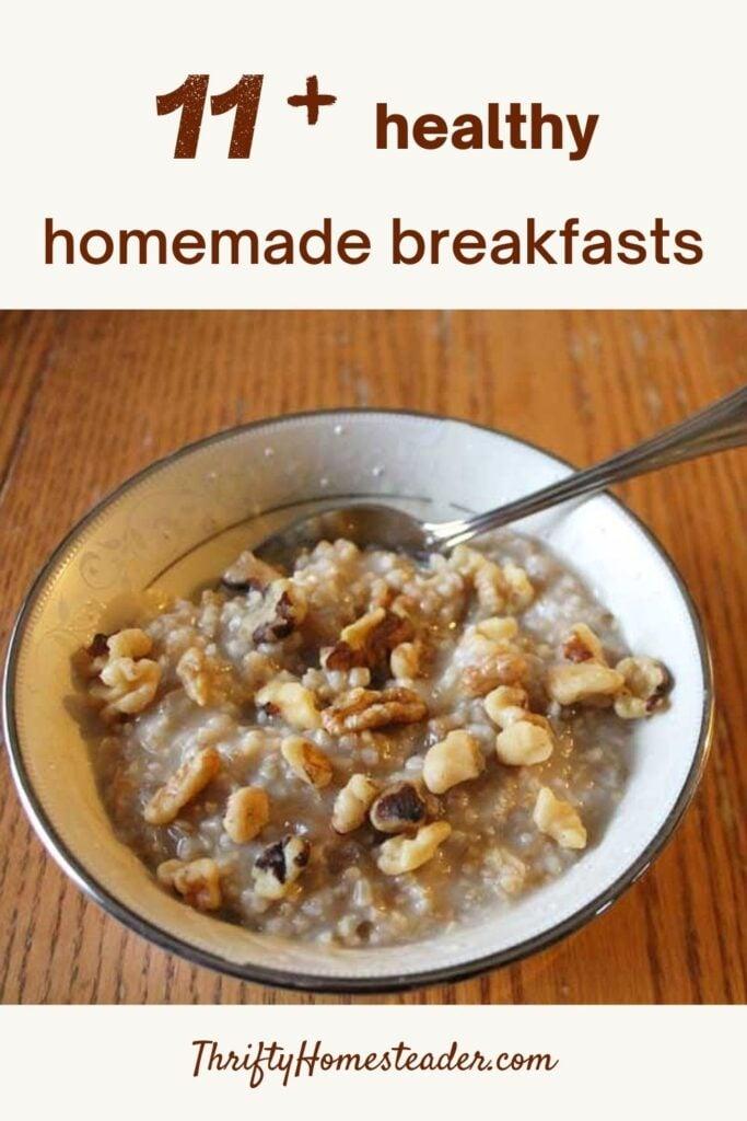 healthy homemade breakfasts_pin