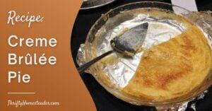 Recipe Creme Brûlée Pie