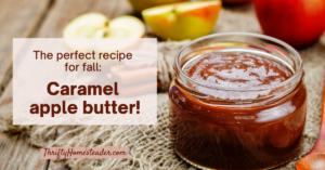 Caramel apple butter recipe