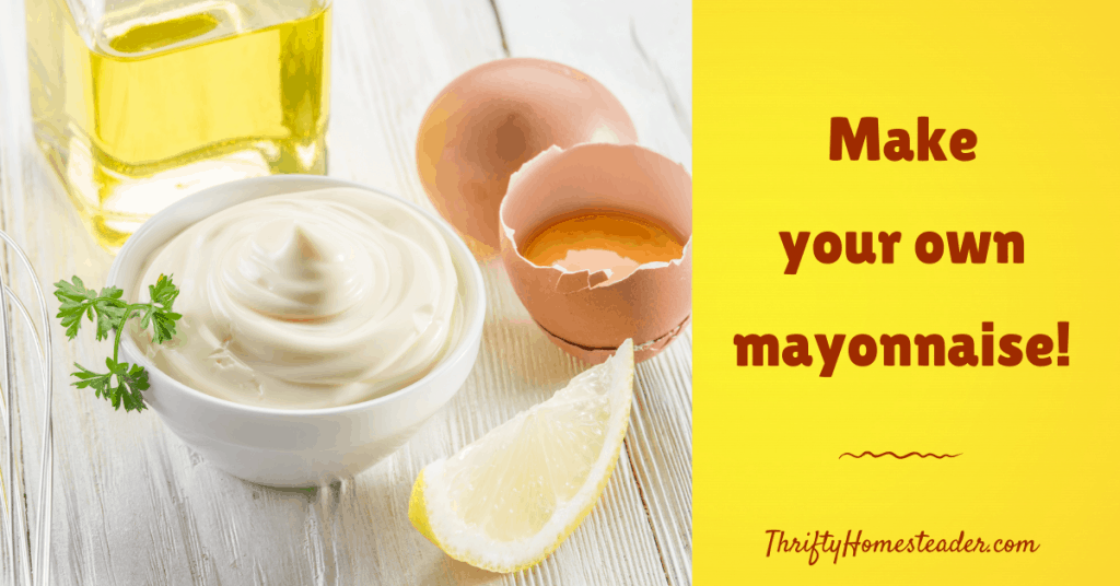 Make Your Own Mayonnaise
