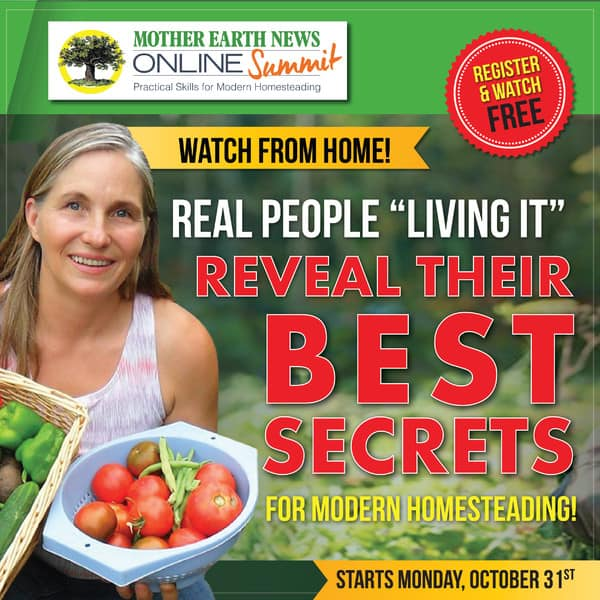 Join me at the online homesteading summit!
