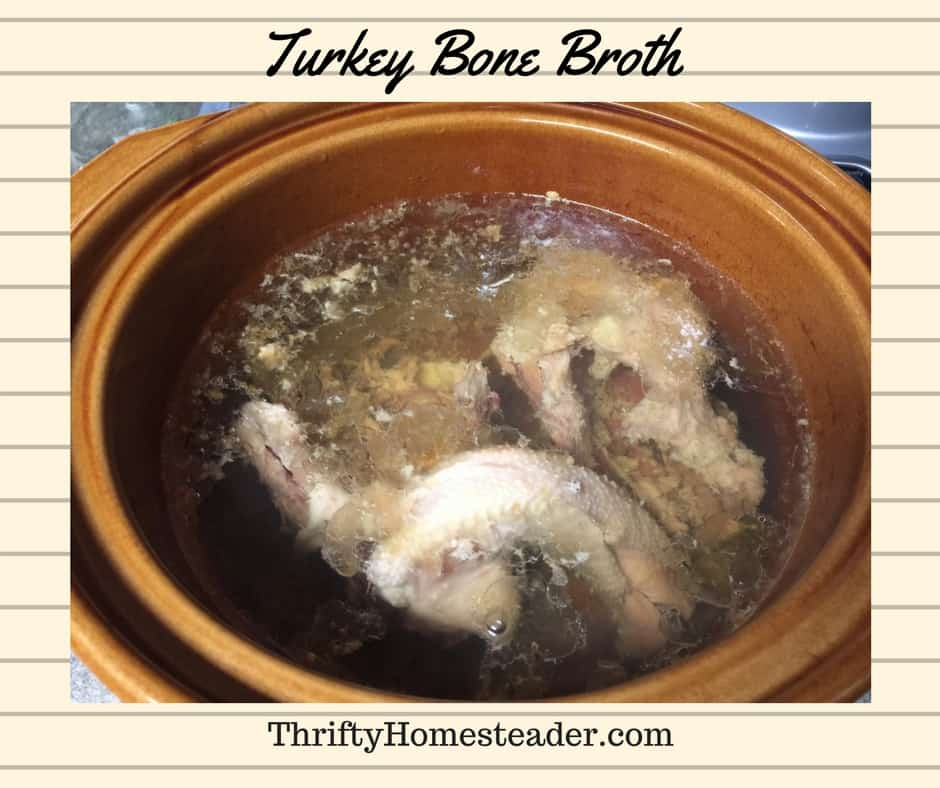 Making turkey bone broth