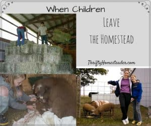 children leave homestead