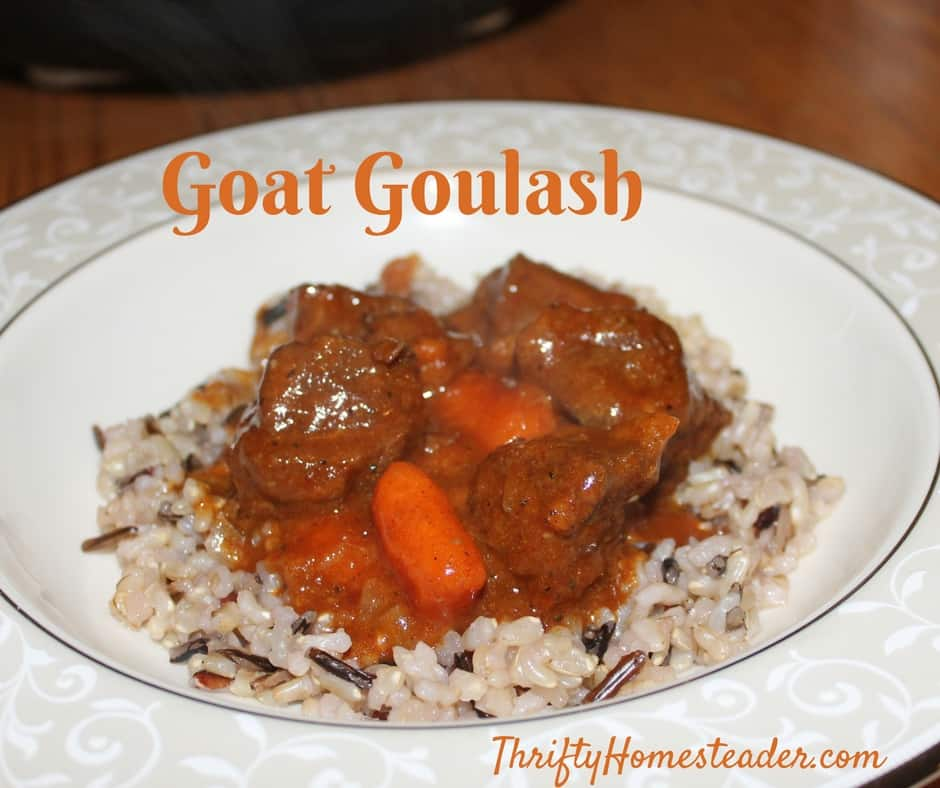 Nigerian dwarf meat and Goat Goulash recipe
