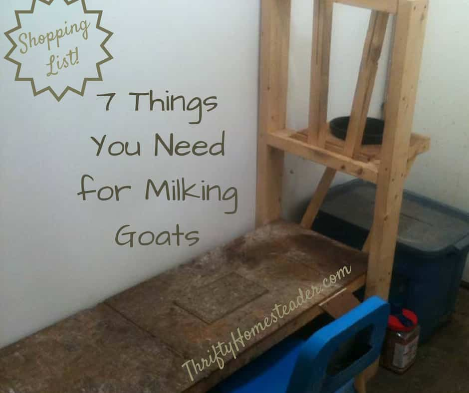 Goat Milking Equipment