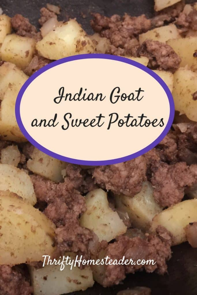 Indian goat and sweet potatoes