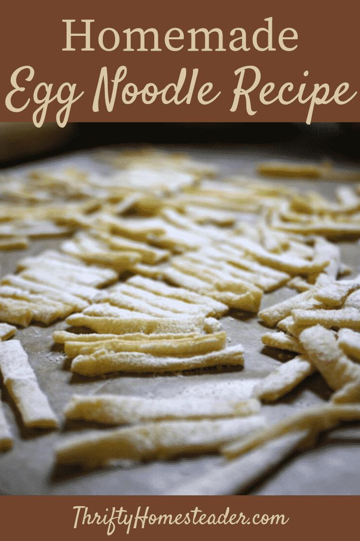 homemade egg noodle recipe