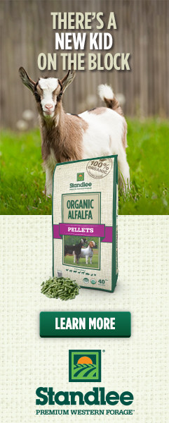 goat and alfalfa pellets