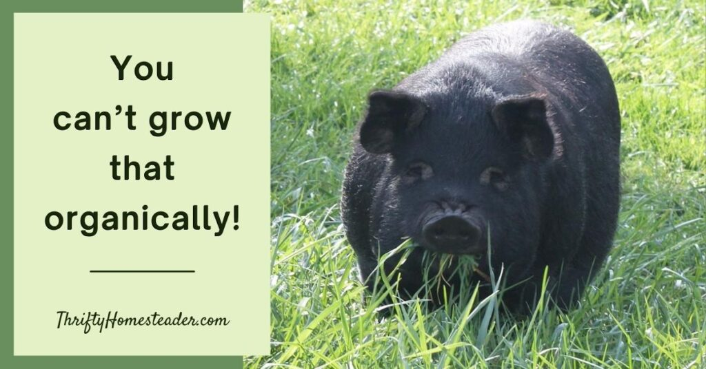 You can't grow that organically!